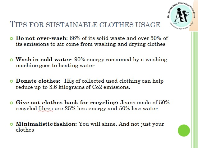 How to reduce environmental impact of clothes