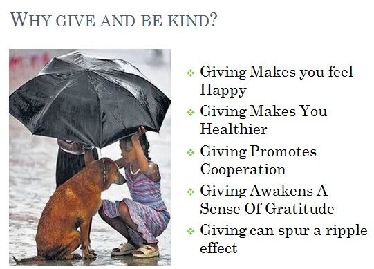 reasons why you should give and be kind