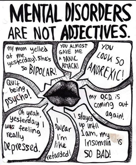 mental disorders are not adjectives
