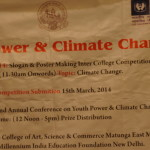 Youth Power and Climate Change Conference