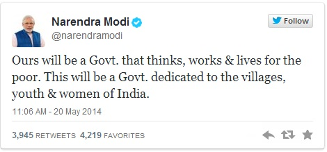modi tweets for youth