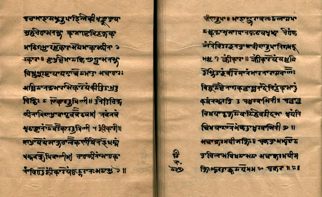Devi Naam Vilas by Sahib Kaul in Sharda Script