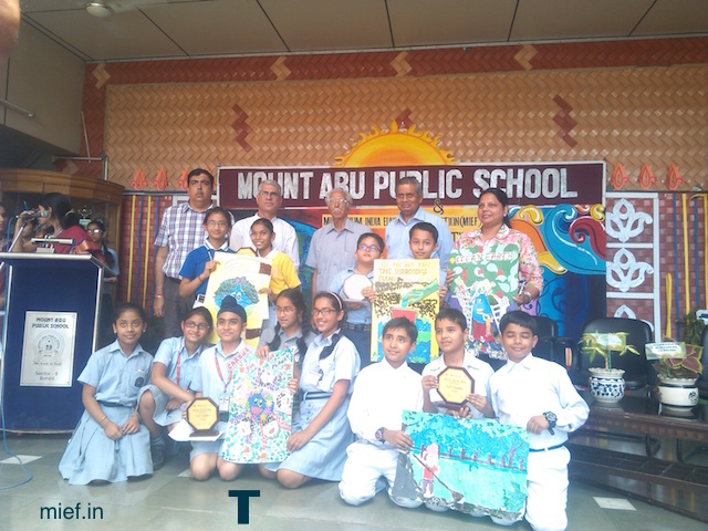 World Earth Day celebration MIEF Mount abu school